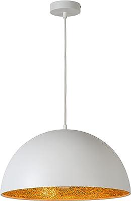 Lucide elynn–Lampade a sospensione–Ø 40cm–Bianco, Metallo, bianco, E27 60 wattsW 230 voltsV