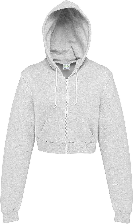 Awdis Just Hoods Womens/Ladies Girlie Cropped Full Zip Hoodie Jacket