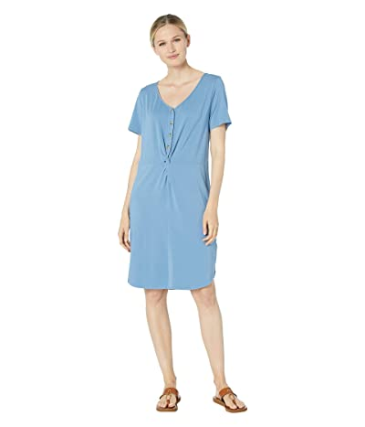 Mod-o-doc Scotton Modal Knotted Button Front Dress (Blue Moon) Women