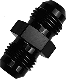 4AN Male Flare Union Coupling Hose Fitting Adapter AN 4 to 4 AN Coupler Fuel Oil Line Hose End Aluminum Black
