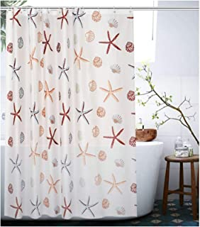 AieniD Duschvorhang Durchsichtig Lang Streifen Bunt Badevorhang