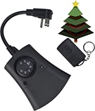 Woods 59746WD 24-Hour Automatic Photocell Remote Control Timer with 3 Grounded Outlets Ideal for Automating Holiday Decorations, Christmas Outdoor Lighting, Weatherproof, Adjustable up to 80 ft. away, 125-volt, 60-hertz