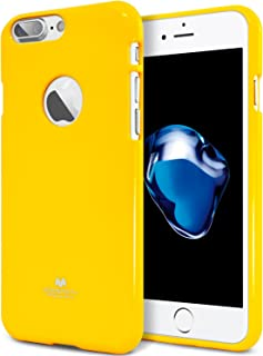 GOOSPERY Pearl Jelly for Apple iPhone 7 Plus Case (2016) Slim Thin Rubber Case (Yellow) IP7P-JEL-YEL