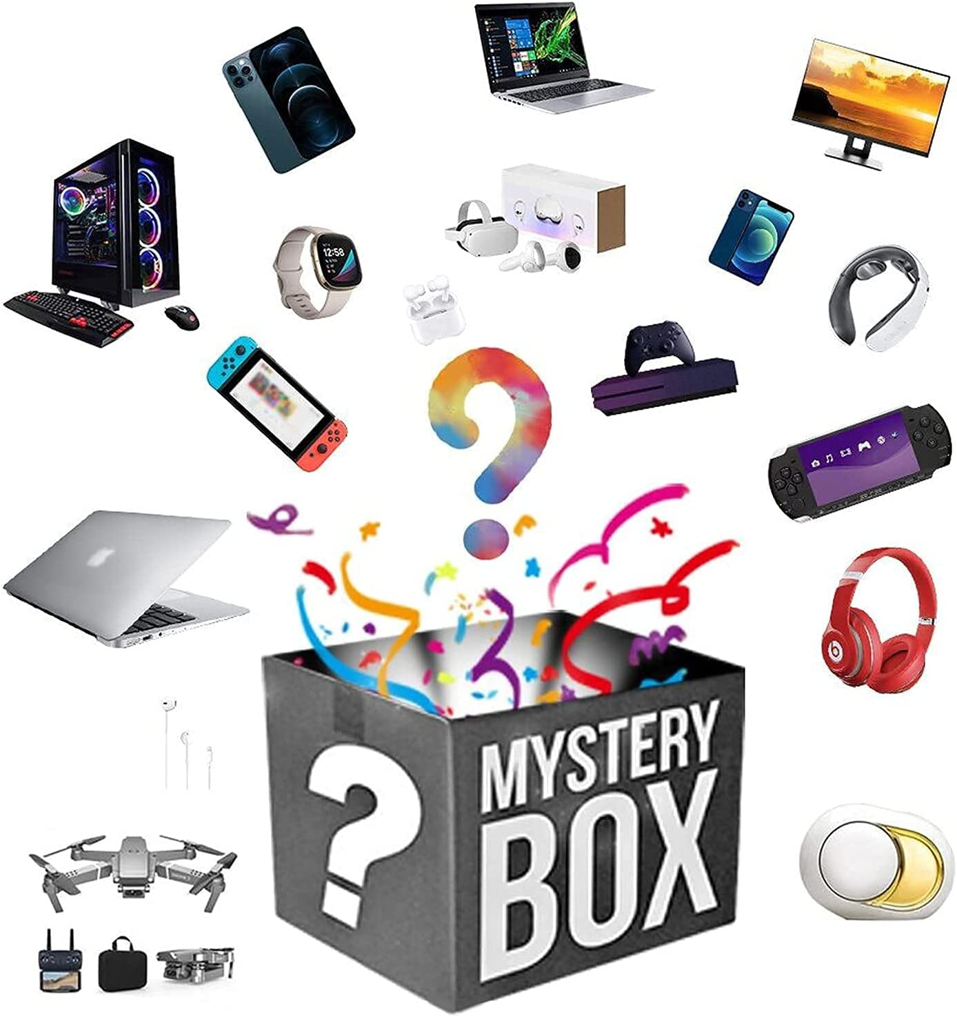 Lucky Box Free Shipping Cheap Bargain Gift Mystery Boxes Ca Equipment Mysteries Department store Electronic