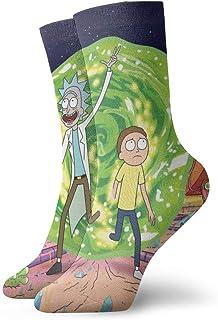 SJPillowcover, Calcetines de manga corta con diseño de Rick Morty para adultos, unisex, estilo informal, para adultos, calcetines cortos