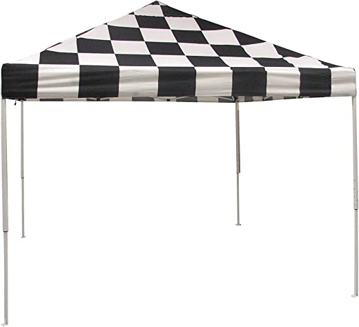 B003AQLCXU✅ShelterLogic Easy Set-Up 10 x 10-Feet Straight Leg 50+ UPF Protection Pop-Up Canopy with Roller Storage Bag for the Beach, Park, Tailgating, and Other Outdoor Activities, Checkered Flag
