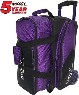 Moxy BSSTMOXY1928-1 Blade Premium Double Roller Bowling Bag, Purple/Black