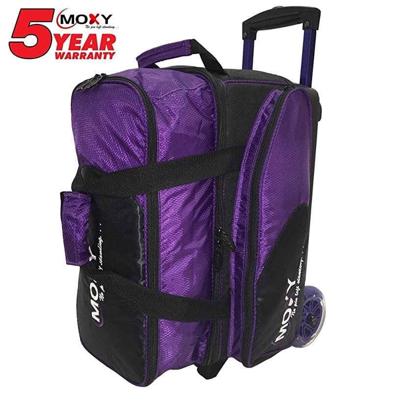 Moxy BSSTMOXY1928-1 Blade Premium Double Roller Bowling Bag, Purple/Black