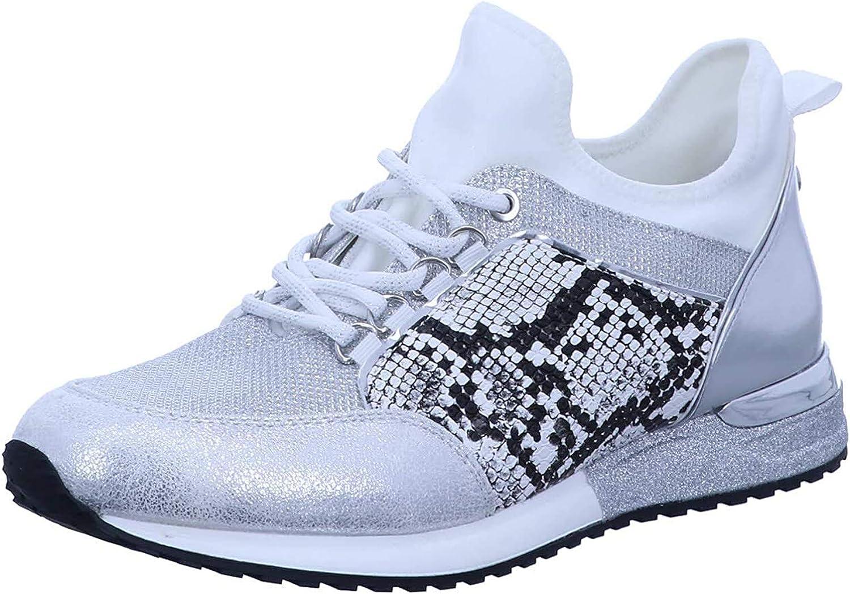 La Strada 1900356 Sneaker Cracked White Weiß