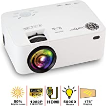 MacStein Mini Portable Movie Projector with 1080P Supported Video Display - 1800+ Lumens - 176