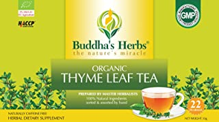 Sponsored Ad - Buddha's Herbs Premium Organic Thyme Leaf Tea, 88 Tea Bags (Pack of 4)