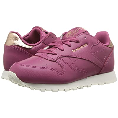 Reebok Kids Classic Leather (Little Kid) (Twisted Berry) Girls Shoes