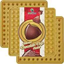 Chocolate Chip Mold Silicone 3 Pack - New Fda Approved Lfgb Professional Grade Silicone Chocolate Chips Candy Molds - Make Non Dairy & Sugar Organic Chocolate Chips & Mini Gumdrop