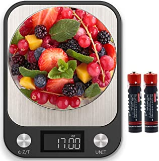 Food Scale, Multifunction Digital Kitchen Scale High Accuracy Electronic Food Weight with Large LCD Display, Stainless Ste...