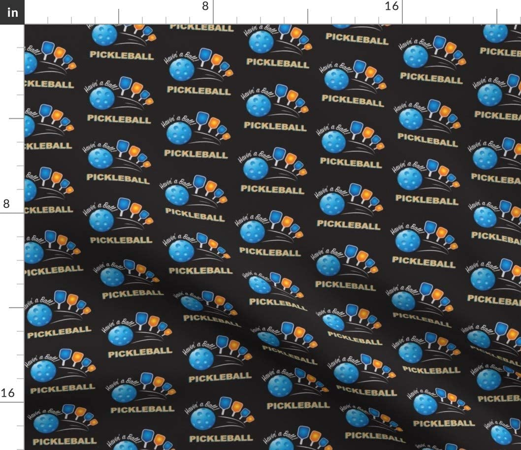 Spoonflower Fabric - Ball Colorado Springs Mall Black Ranking TOP6 Retired Sport Pickleball Paddle
