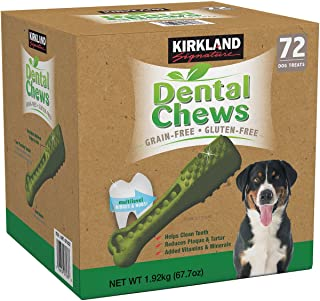 Kirkland Signature Doggy Dental Chews: Grain-Free, Gluten-Free - (72 Treats)