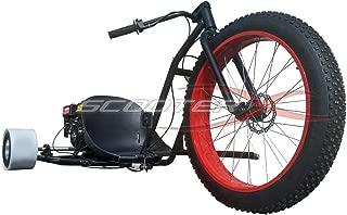 Scooter X Motorized Drift Trike 6.5 HP 40 MPH - RED Wheel [533]