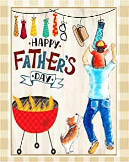 Wamika Happy Fathers Day Best Dad Double Sided Garden Yard Flag 12