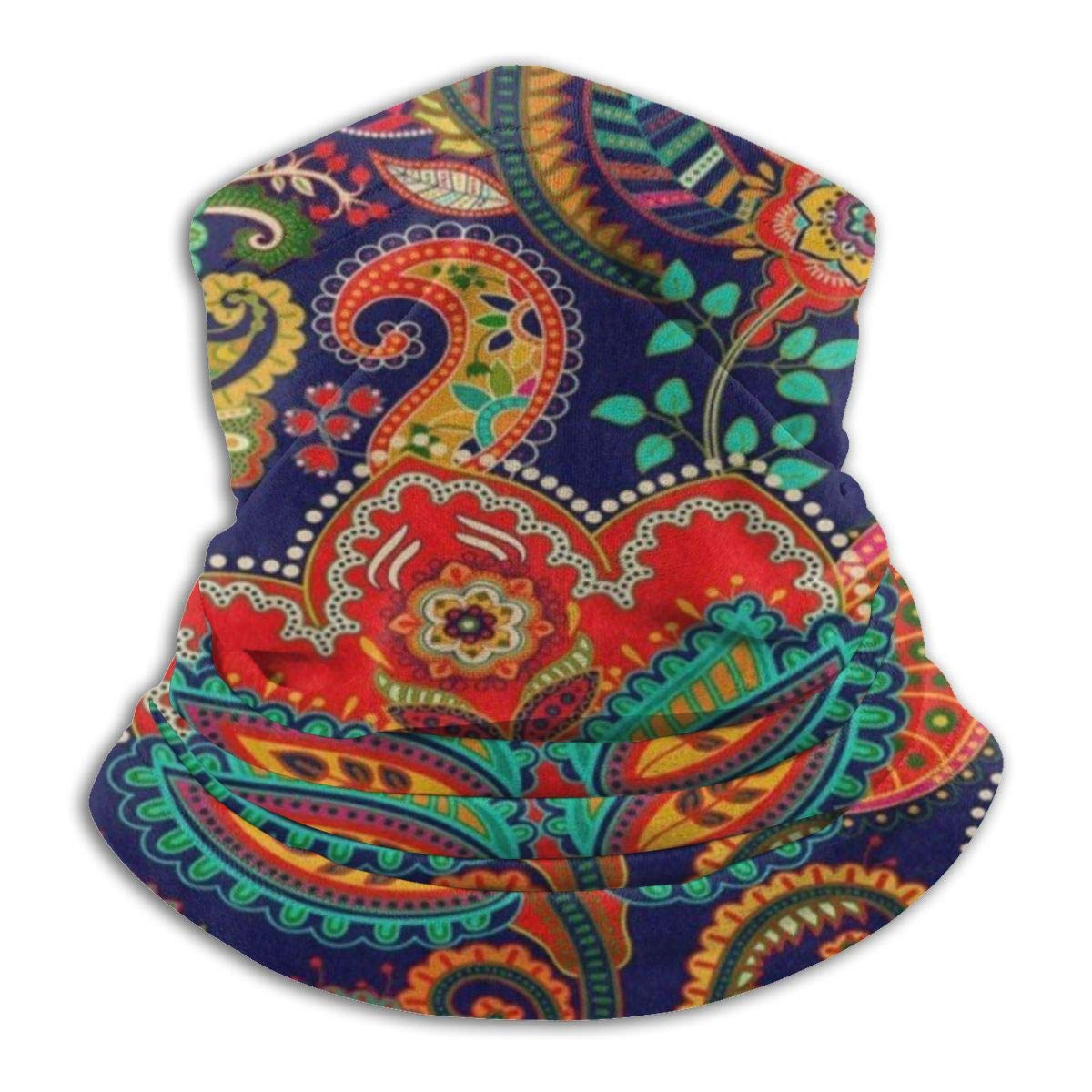 SLHFPX Paisley Floral Flower Ethnic Headband Womens Bandana Mens Balaclava,Neck Warmer,Face Mask,Sweatband Headwrap