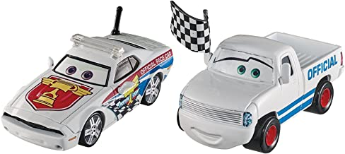 Disney Pixar Cars Character Car Race Starter & Pace Car Vehicle, 2 Pack