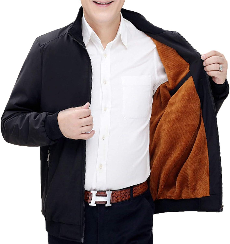 Elonglin Mens Winter Jacket Fleece Lined Windbreaker Thick Coats Padded Parka