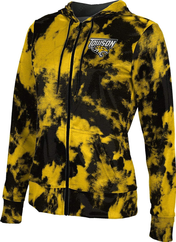ProSphere Towson University Girls' Zipper Hoodie, School Spirit Sweatshirt (Grunge)