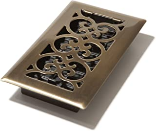 Decor Grates SPH408-A Floor Register, 4-Inch by 8-Inch, Antique Brass