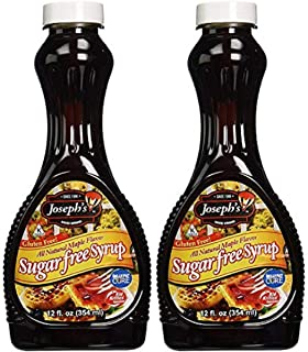 Joseph's Sugar Free Syrup, Maple Flavor, 12 Fl. Oz. (Pack of 2)