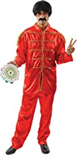 Mens Red Beatles Sergeant Peppers Lonely Hearts 60s Pop Star Fancy Dress Costume