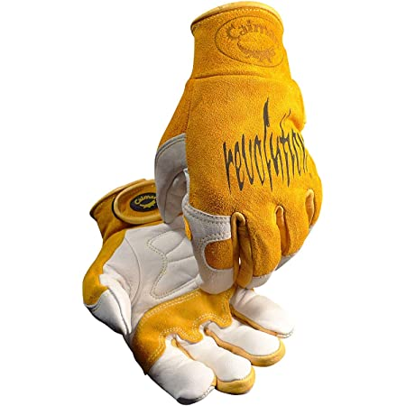 CAIMAN 1540 Premium Goat Grain Unlined Palm TIG//Multi-Task Welding Gloves