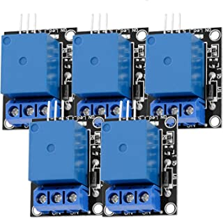 AZDelivery 5 pcs 1 Canal KY-019 Modulo Rele 5V High-Level-Trigger compatible con Arduino con E-Book incluido!