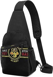 Hdadwy Karate Kid Strike First Strike Hard Sling Mochila Sling Bag Black Crossbody Daypack Mochila informal para viajes, s...