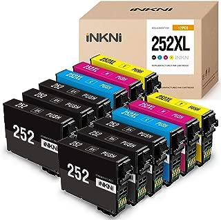 INKNI Remanufactured Ink Cartridge Replacement for Epson 252XL 252 XL Ink for Workforce WF-3640 WF-3620 WF-7110 WF-7710 WF-7720 WF-7610 WF-7620 WF-3630 Printer(6 Black,2 Cyan,2 Magenta,2 Yellow,12P)