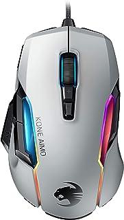 ROCCAT Kone AIMO Remastered RGBA スマートカスタマイズ ゲーミングマウス (光学式 Owl-Eye 16K, サイドボタン) ホワイト (国内正規品) ROC-11-820-WE