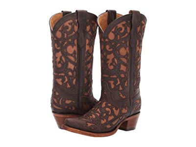 Corral Boots Kids E1302 (Little Kid/Big Kid) (Brown) Cowboy Boots