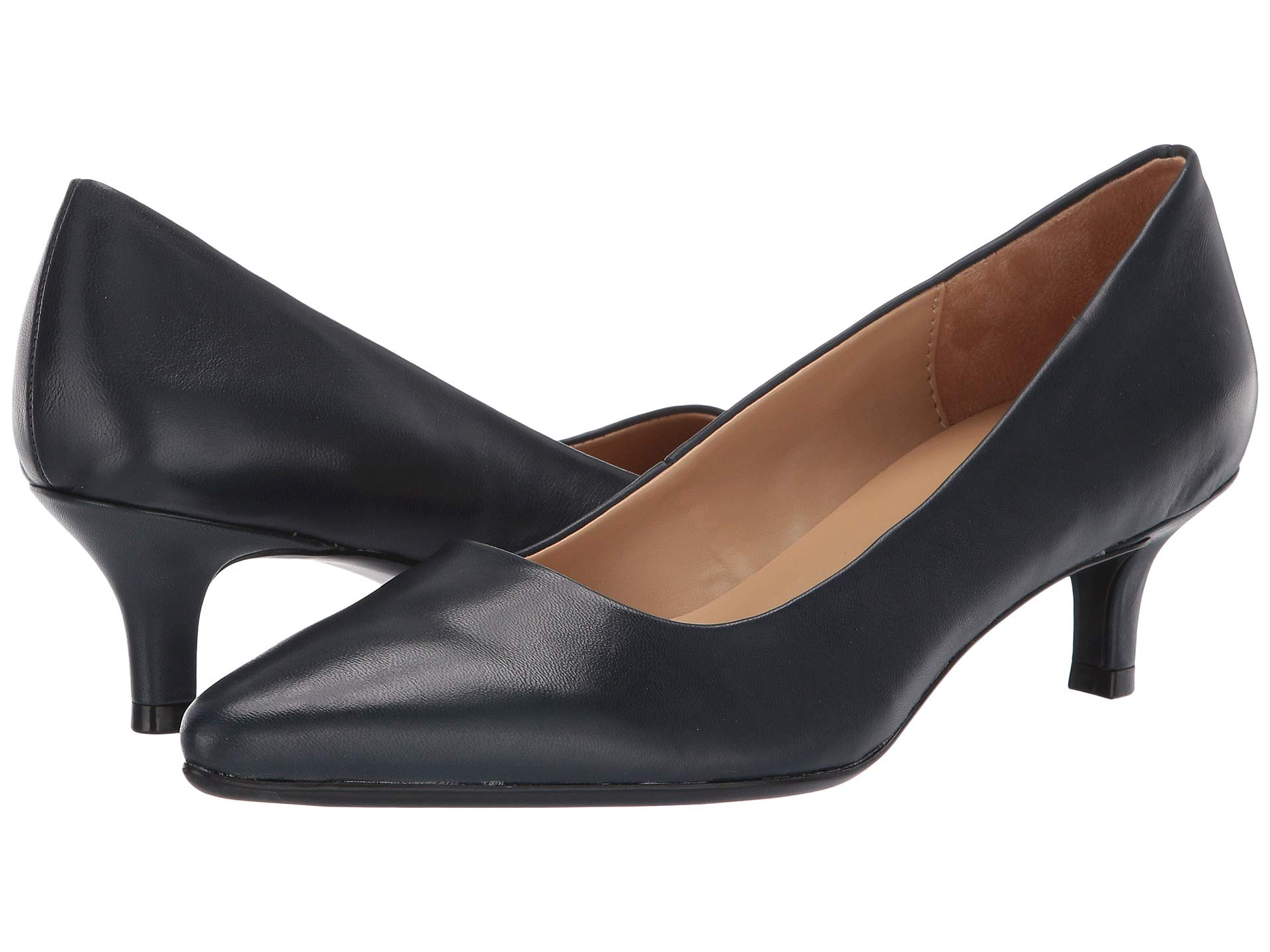 Naturalizer Womens Gia Leather Pointed Toe Classic Pumps