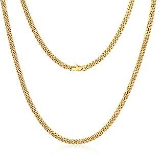 گردنبند زنجیر حلقه ای مردانه Jewlpire Diamond Cut میامی ، زنجیر طلا | زنجیر نقره ای مردانه پسرانه زنانه ، هیپ هاپ