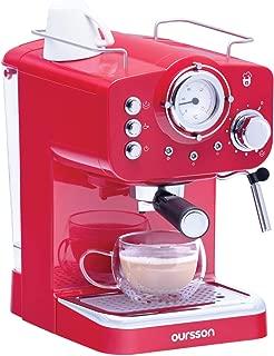 ONOGAL Cafetera para Cafe Espresso y Capuchino con Precololador para Cafe Molido y Vaporizador para Leche e infusiones 6392