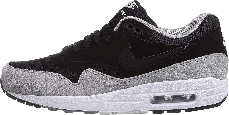 Nike Air Max 1 Essential, Chaussons Sneaker Homme, Noir (Black ...