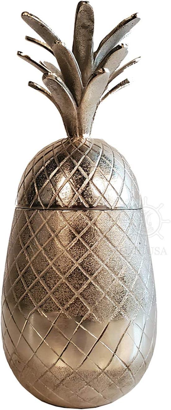 Old 人気ブレゼント Modern Handicrafts Aluminium 記念日 Decor Pineapple Storage