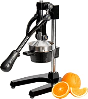 Professional Citrus Juicer - Commercial Grade Hand Press Manual Orange Juicer Lemon Squeezer with Heavy Duty Cast Iron Base and Handle - Non Skid Suction Foot Base