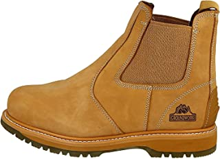 Groundwork Mens Work Slip On Chelsea Dealer Safety Boots Protective Steel Toe Cap