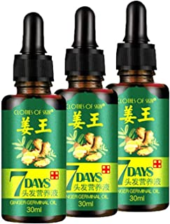 3 PACK Ginger Germinal Oil,Hair Growth Serum,2020 Hair Growth Ginger Essential Oil Hair Growth Oil Hair Loss Treatment