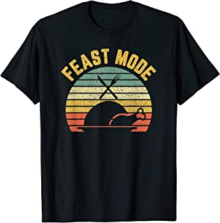 Retro Funny Feast Mode Thanksgiving T-Shirt