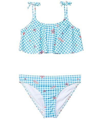 Roxy Kids Vichy Paradise Flutter Set Swimsuit (Toddler/Little Kids/Big Kids)