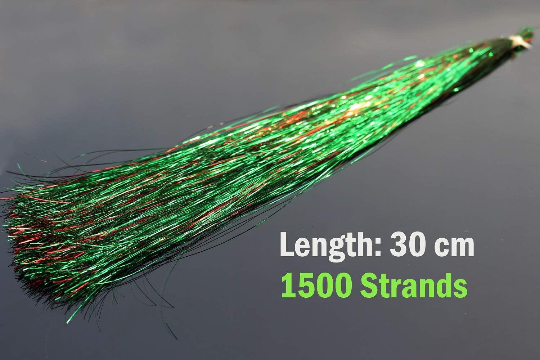 pesca con mosca Tigofly 6 paquetes//lote de 6 colores mezclados 0,3 mm Flashabou espumill/ón plano de cristal Mylar Flash tubo de trucha