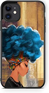 XUNQIAN iPhone 11 Pro Max Case, African American Girls Wood Artistic Thin Soft Black TPU +Tempered Mirror Material Protect...