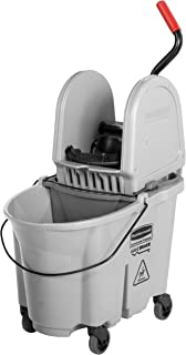 Rubbermaid Commercial 1863899 Executive Series WaveBrake Down-Press Mop Bucket, Gray