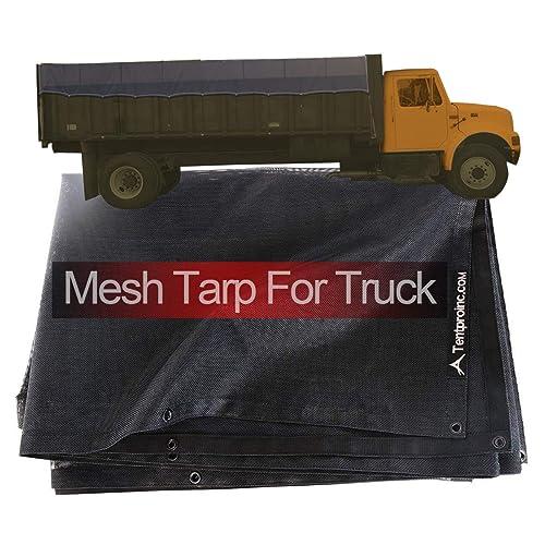Truck Mesh Tarp 8X12 (Black) Tentproinc Heavy Duty Cover Top Quality