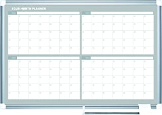 MasterVision Planning Board, Magnetic Dry Erase, 4 Month Calendar Board with Aluminum Frame, 36